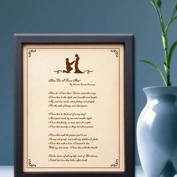 Lik43 Leather Engraved Wedding Third Anniversary love poem declaration of love