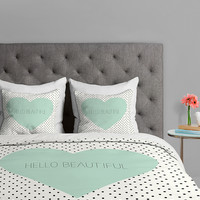 'Hello Beautiful' Duvet Cover | zulily