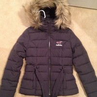 Winter grey hollister coat. Never worn.