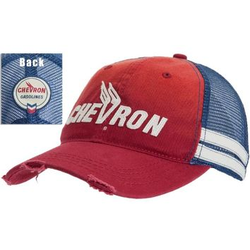Old Glory - Mens Chevron - Winged V Logo Adjustable Baseball Cap Multi