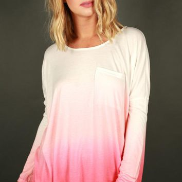 California Girl Ombre Top in Pink