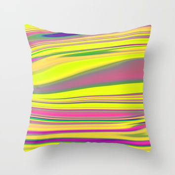 Abstract Fluid 7 Throw Pillow by Arrowhead Art