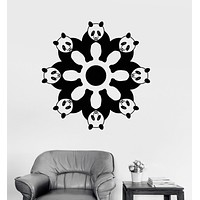 Vinyl Wall Decal Cute Pandas Animals Decoration Kids Room Stickers Unique Gift (ig3043)