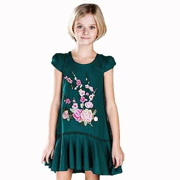 ChildDkivy 3-16 Year 2017 Girls Summer Dress Toddler Girls Birthday Dresses Princess Costume Floral Kids Party Dresses for Girls