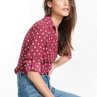 slim fit polka dot portofino shirt