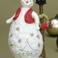 Snowman Christmas Figure - Flickering Led Light
