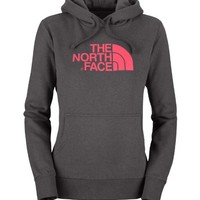 The North Face - Women's Half Dome Hoodie - Graphite / Teaberry Pink - Small