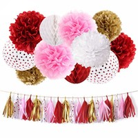 GIRL'S BIRTHDAY PARTY Decoration Set-Sweet Heart Birthday Party |Pink, Red, Baby Shower|Red Bridal Shower |Red Hearts Girls Birthday Party