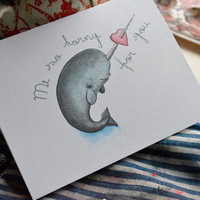 Horny Narwhal Valentines Day Card