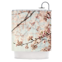 "Catherine McDonald ""Japanese Cherry Blossom"" Shower Curtain, 69"" x 70"" - Outlet Item"