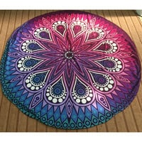 New Hippie Printed Round Indian Mandala Tapestry Wall Hanging Chiffon Boho Beach Throw Towel Yoga Mat Blanket Home Decor 145cm