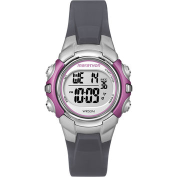 Timex Marathon Digital Mid-Size Watch - Black/Pink
