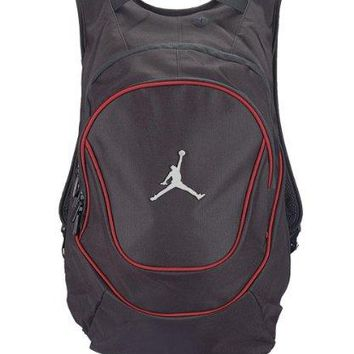 Jordan Nike Air Jumpman Backpack Book Bag-Black/Red