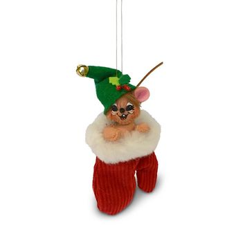 Annalee Dolls 3in 2018 Christmas Jinglebell Mouse in Mitten Ornament New w Box