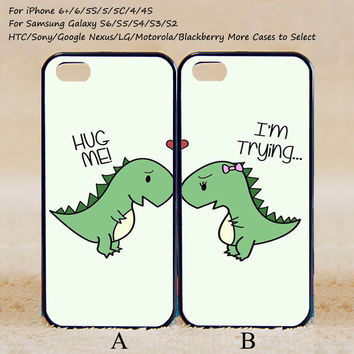 Cute Dinosaur Couple Case,Custom Case,iPhone 6+/6/5/5S/5C/4S/4
