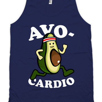 Funny Exercise Tank Avo-Cardio Running Gifts American Apparel Runner Clothing Work Out Clothes Gym Apparel Fitness Tank Mens Tanks WT-177