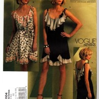 Vogue pattern 1104 Designer Anna Sui BoHo Flirty Summer Dress