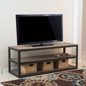 Lundin 3-Shelf Industrial Entertainment TV Console Stand with Shelf