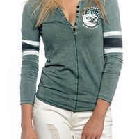 New York Jets Womens Vintage Raglan Top | SportyThreads.com