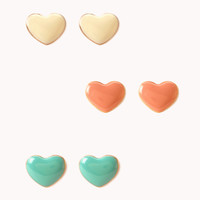 Lacquered Hearts Stud Set