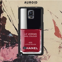 Chanel Nail Polish Lotus Rouge Samsung Galaxy Note 4 Case Auroid
