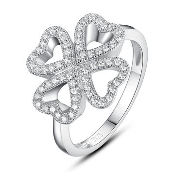 ariella size collection pav rings four pinterest leaf clover carolinedelk on images best ring
