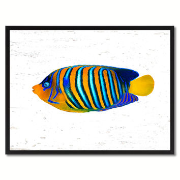 Orange Tropical Fish Painting Reproduction Gifts Home Decor Wall Art Canvas Prints Picture Frames
