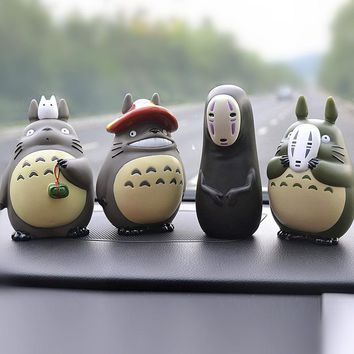 Kawaii Anime Totoro No Face Man Car Ornaments My Neighbor Totoro Doll Car Interior Decorations Cute Cartoon Auto Accessories Toy