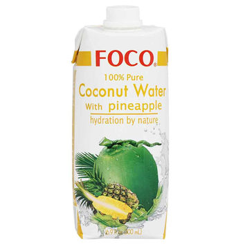 Foco 100% Pure Coconut Water with Pineapple 16.9 fl oz