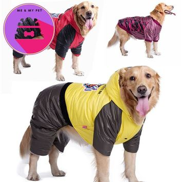 Medium/ Large Dog Waterproof Winter Coat Jacket Pet Snowsuit Clothes