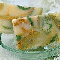 Organic Handmade Soap Lemongrass and Sage by SweetSallysSoaps