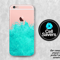 Mint Watercolor Clear Case iPhone 7 iPhone 6s iPhone 6 iPhone 6 Plus iPhone 6s iPhone 5c iPhone 5 iPhone SE Watercolor Splatter Paint Tumblr