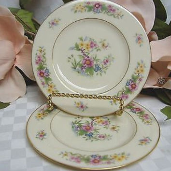 Lenox China Dinnerware, Avon Pattern #S300 Set 2 salad plate