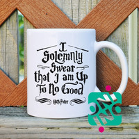 I Solemnly Swear That I Am Up To No Good Harry Potter Quotes Coffee Mug, Ceramic Mug, Unique Coffee Mug Gift Coffee