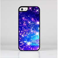 The Glowing Pink & Blue Starry Orbit Skin-Sert Case for the Apple iPhone 5c
