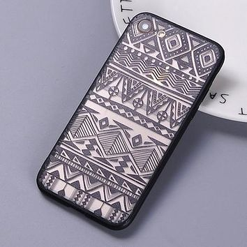 Sexy Fashion Lace Boho Indian Floral Tribal Pattern Soft Clear Phone Cover Case Coque For iPhone 7 7Plus 6 6Plus 5 5S 8 8Plus X