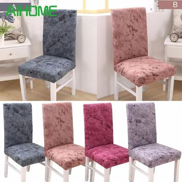 1 Piece Fit Soft Stretch Cotton Chair Covers For Wedding Hotel Office Kitchen Chair Short Dining Chair Cover