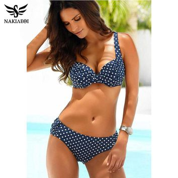 NAKIAEOI 2018 New Sexy Bikinis Women Swimwear Push Up Swimsuits Halter Top Brazilian Bikini Set Summer Beach Bathing Suits S~XL