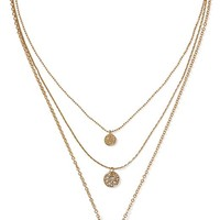 Banana Republic Womens Triple Layered Necklace Size One Size - Gold