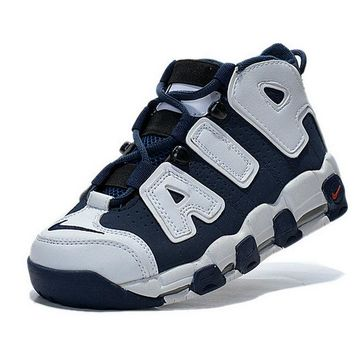 Original Women Nike Air More Uptempo Olympics USA Navy White Red Brand sneaker