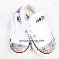 Infant Toddler White Diamond Swarovski por jewelrybabyblingdara