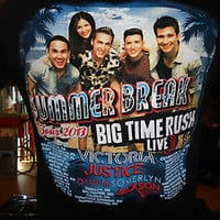 Big Time Rush/Victoria Justice Summer Break Tour 2013 black medium t-shirt