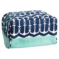 Cape Cod Sleepover Toiletry Bag, Navy Anchor