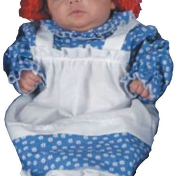 baby girl's costume: raggedy ann bunting, 3-9 months