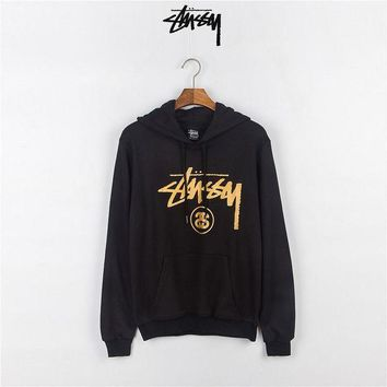 ESB9N Stussy Casual Long Sleeve Top Sweater Hoodie Pullover Sweatshirt