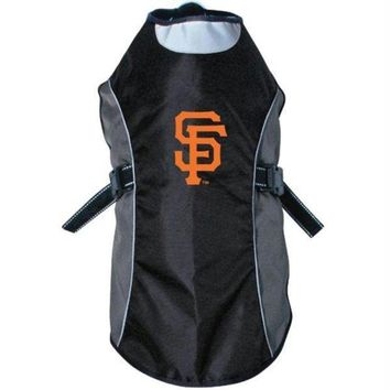 auguau San Francisco Giants Water Resistant Reflective Pet Jacket