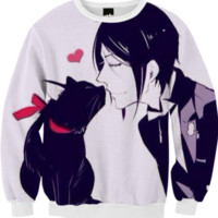 Sebastian loves nekos | Black Butler created by Kanekiism | Print All Over Me