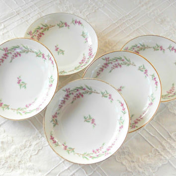 Vintage Edelstein Newton Berry Bowls, Set of 5, German, Tea Party, Wedding, Shabby Chic, Cottage Style, Replacement China