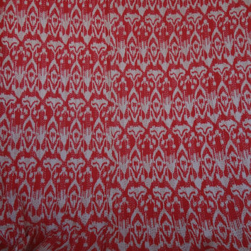 reversible ikat bedding throws in red