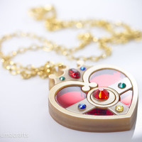 Sailor Moon Inspired Cosmic Heart Compact by kumacrafts